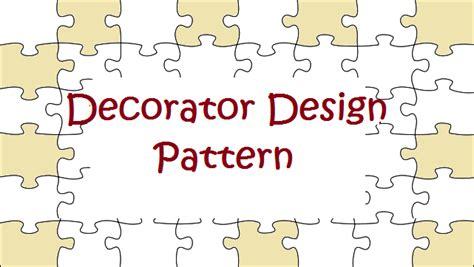 decorator design pattern javabypatel