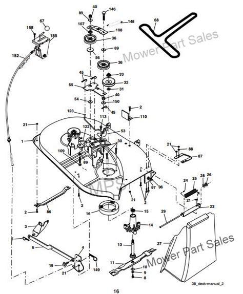 craftsman lt1000 mower deck diagram cutter deck drive belt fits craftsman lt1000 ayp model