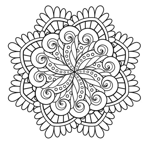 Mandala immortality   Mandalas   Coloring pages for adults