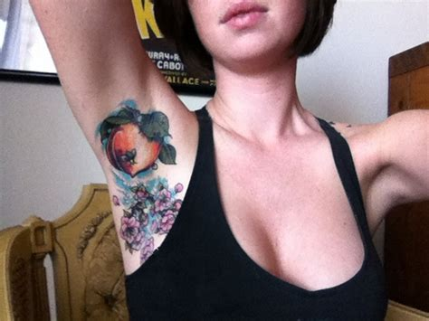 armpit tattoo the peach pit tattoo design pinterest