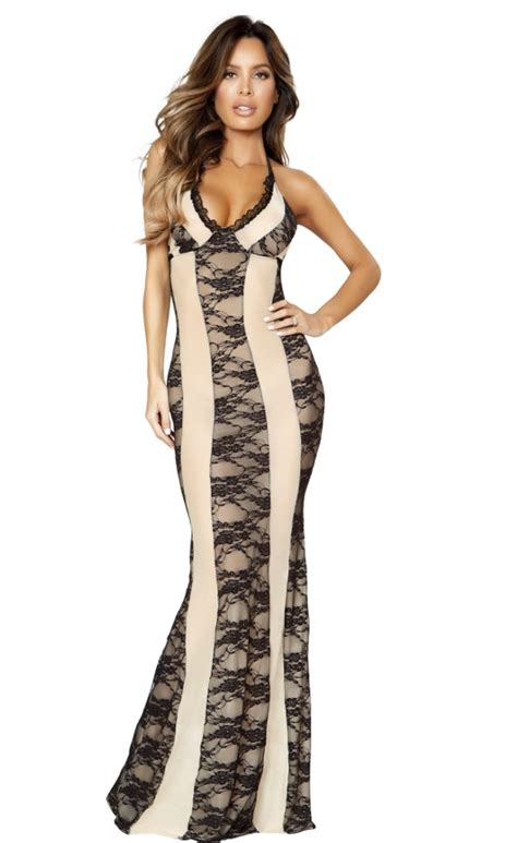 dress alin lace lu and black lace gown dress