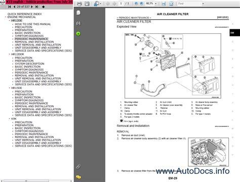 free download parts manuals 2010 nissan cube electronic valve timing nissan micra k13 series service manual repair manual order download