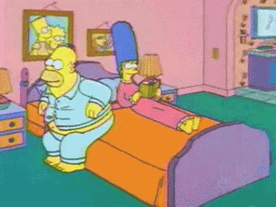 homer in bed animation homer out grown the bed by bendavl on deviantart