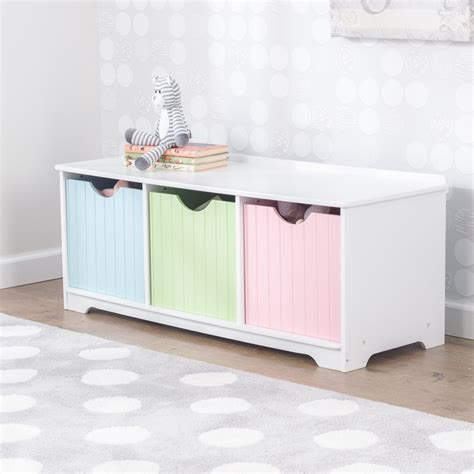 kidkraft nantucket storage bench pastel nantucket storage bench pastel children s toys in