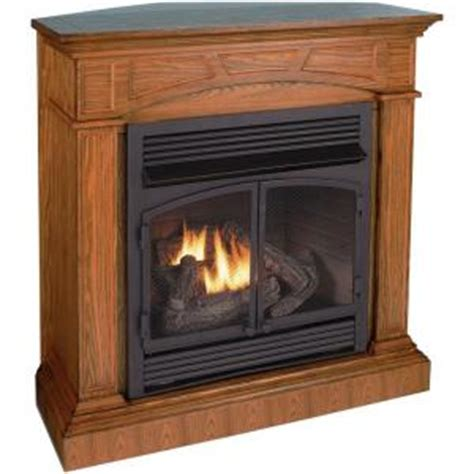 Ventless Gas Fireplace Home Depot by Procom 45 In Convertible Vent Free Dual Fuel Gas