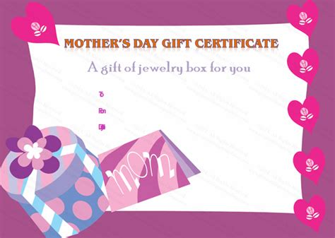 S Day Gift Card Template by Present Box S Day Gift Certificate Template