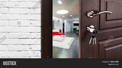 how to open a bedroom door without a key half opened door living room door image photo bigstock