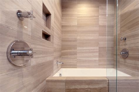 Modern bathroom with surprising design feature