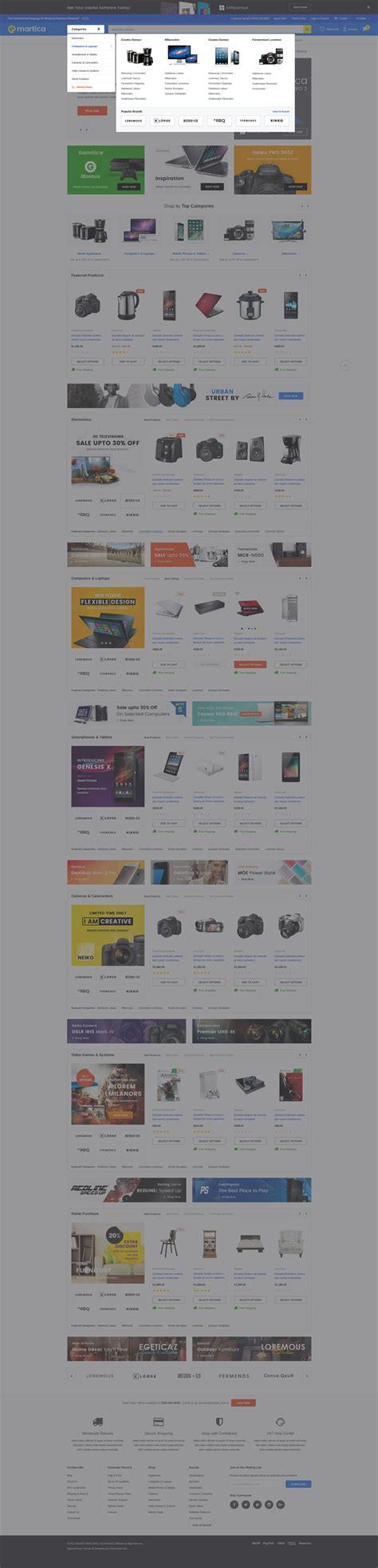 shopify themes with megamenu emartica responsive supermarket shopify template
