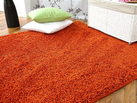 teppich orange hochflor langflor teppich shaggy orange