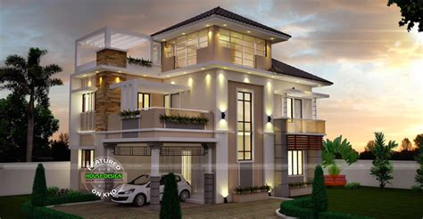 Home Design Plans Kerala Style by Unusually Modern Three Storey House Home Design