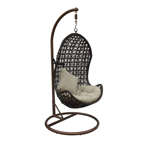 rattan hanging chair jlip outdoor s1776 1 a rattan patio hanging chair ebay