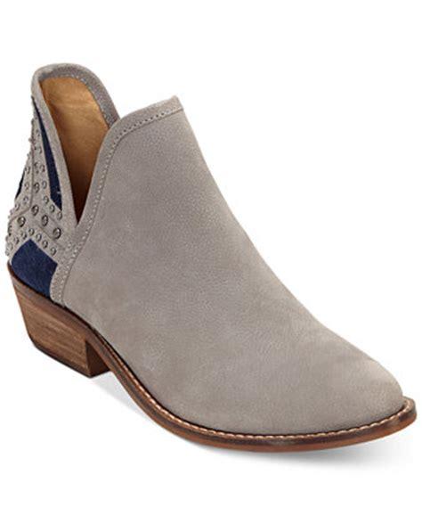 macy s lucky brand boots lucky brand kambry chopout block heel booties boots