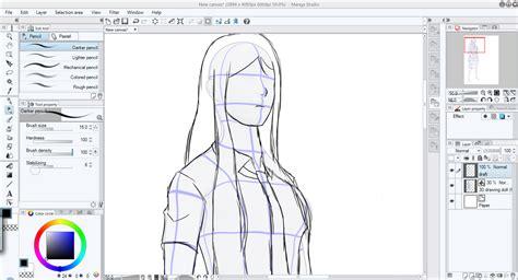 tutorial menggambar baju tutorial menggambar dengan 3d model di manga studio 5
