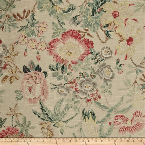 designer home decor fabric p kaufmann mixed bouquet floral flax discount designer