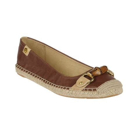 etienne aigner shoes flats etienne aigner unice espadrille flats in brown banana