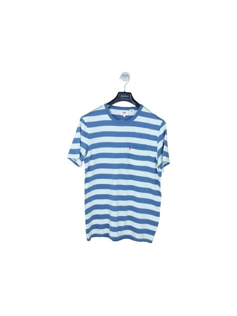 Levis Tshirt All Color levis 2 colour sunset pocket t shirt in blue northern