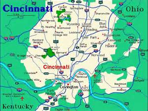 Cincinnati Ohio Map by Maps Of Dallas January 2012