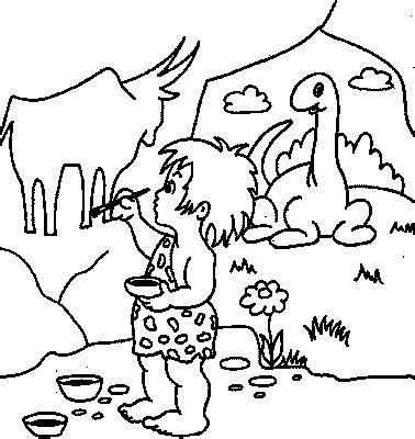 cave art coloring page transmissionpress cave painter kids coloring pages