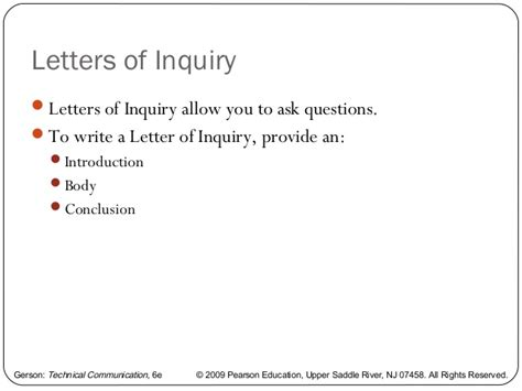 Inquiry Letter Questions Writing A Memo Letter And E Mail