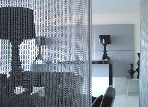 chain curtain room divider chain link room screen divider hospitality design