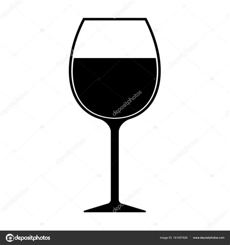 wine glass silhouette wine glass silhouette icon isolated stock photo
