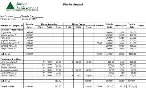 planilla de empleados contabilidad general pla 241 iyas futbol