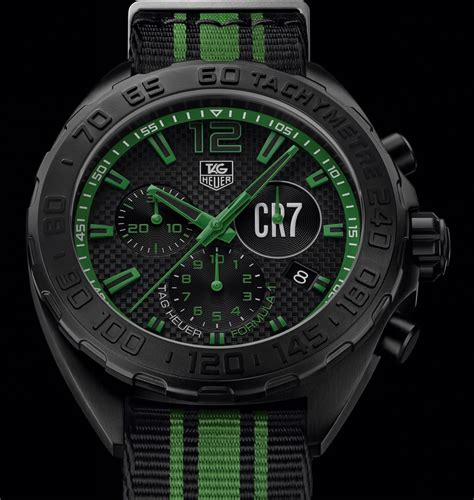 Tagheuer Cr7 Black Green look tag heuer formula 1 cristiano ronaldo cr7