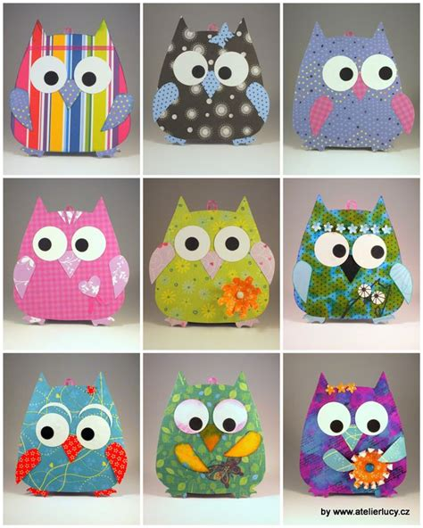 paper owl crafts 48 best sizzix images on barn owls big