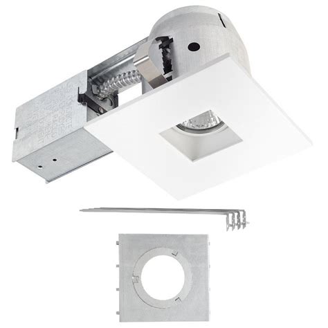 ic rated recessed lighting commercial electric 4 in white recessed non ic remodel