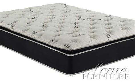 Bamboo Pillow Top Mattress by Acme Furniture Black Suede California King Pillow Top