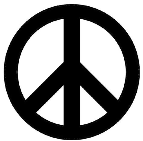 printable peace sign stencil clipart best