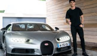 Cristiano Ronaldo Bugatti Cristiano Ronaldo Tests The Bugatti Chiron Is It His