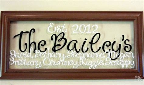 personalized last name wall decor items similar to personalized last name glass wall