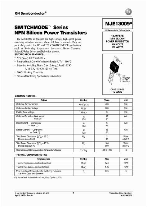 data sheet transistor lb1240 mje13009 d 375796 pdf datasheet ic on line