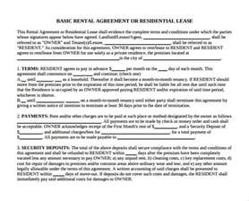 sample month to month rental agreement form 11 free