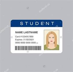 id card template more students id cards design templates sles student gt gt 24 student id template