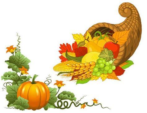 cornucopia clipart thanksgiving decoration pencil and in