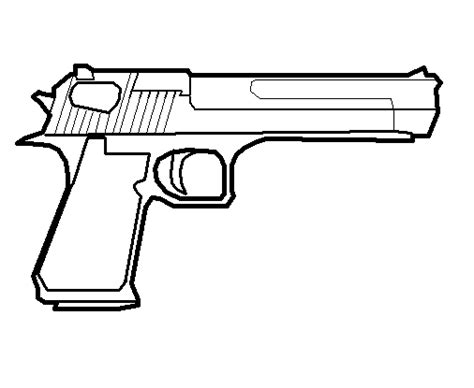 Desert Eagle Outline by Droidz Away From The Norm