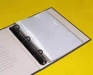 Card Pockets Clear 5 1 2 Quot X 8 1 2 Quot Mini Binder Page