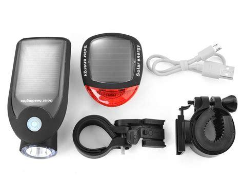 solar bike lights solar energy bike light 187 gadget flow