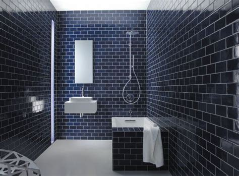 navy bathroom tiles tile subway tiles and cottage showers on pinterest