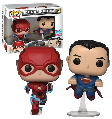 Funko Pop Heroes Flash funko pop heroes dc justice league the flash and superman
