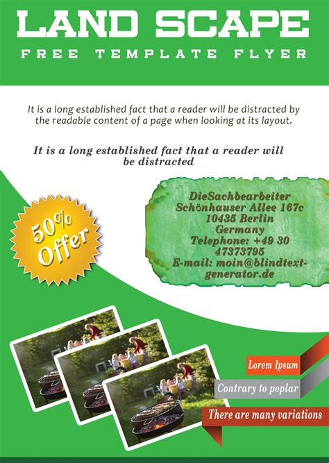 Free Landscaping Flyer Templates To Power Lawn Care Businesses Demplates Free Landscape Design Templates