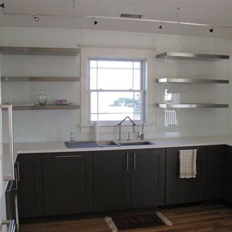 floating stainless steel shelves best 25 stainless steel kitchen shelves ideas on