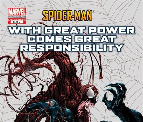 With Great Power spider with great power comes great responsibility