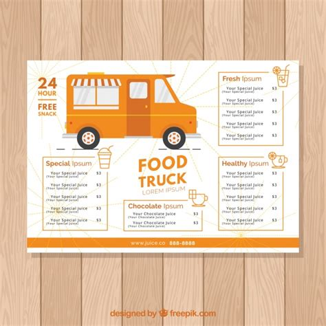 food truck menu template okl mindsprout co