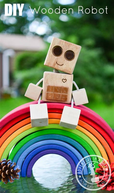 diy wood robot toy woodworking projects  kids