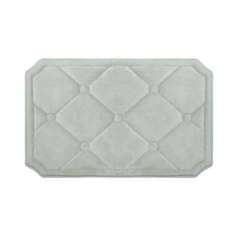 light grey bathroom rugs bouncecomfort gertie light gray 17 in x 24 in memory