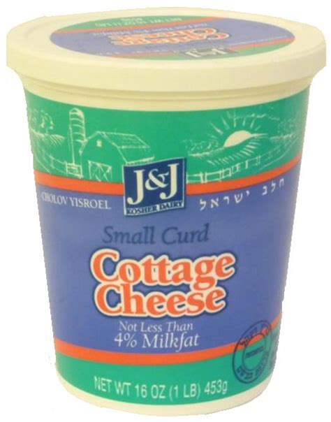 j j kosher dairy small curd cottage cheese 4 milk 16 oz